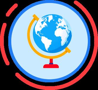 Dessin du globe terrestre