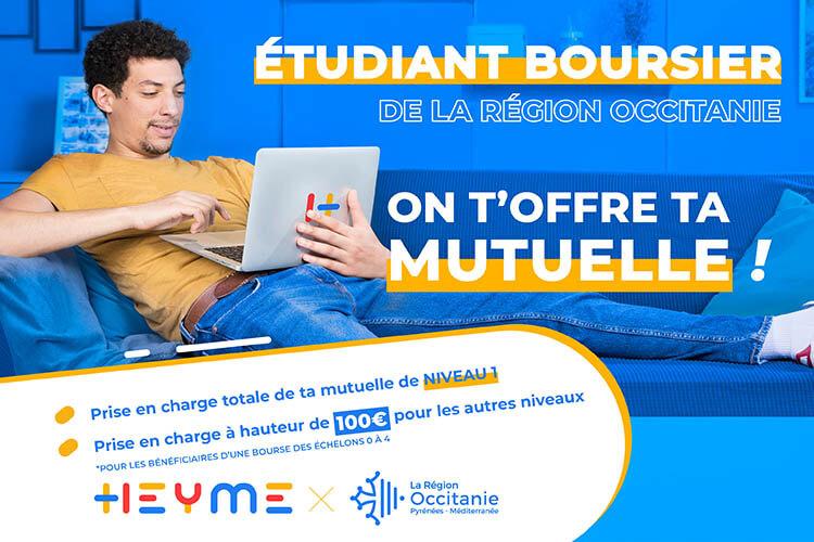 Etudiant boursier : l'aide à la complémentaire santé de la Région Occitanie - Heyme