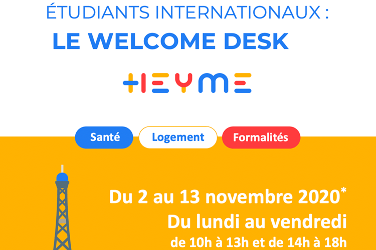 WELCOME DESK SANTE : accueille des étudiants internationaux à Paris Saint Michel - Heyme