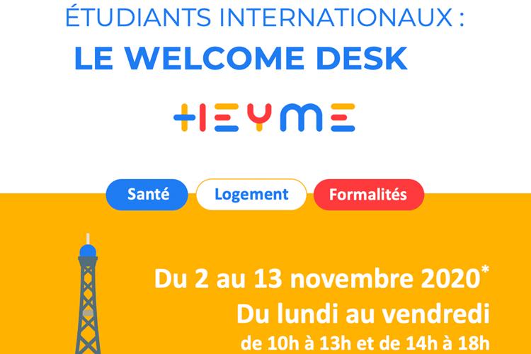WELCOME DESK SANTE : accueille des étudiants internationaux à Paris Saint Michel - Heyme