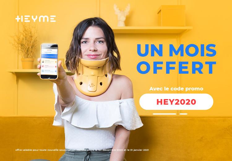 Du 1 er décembre 2020 au 31 janvier 2021 : profite d'un mois offert avec le code promo HEY2020 - Heyme